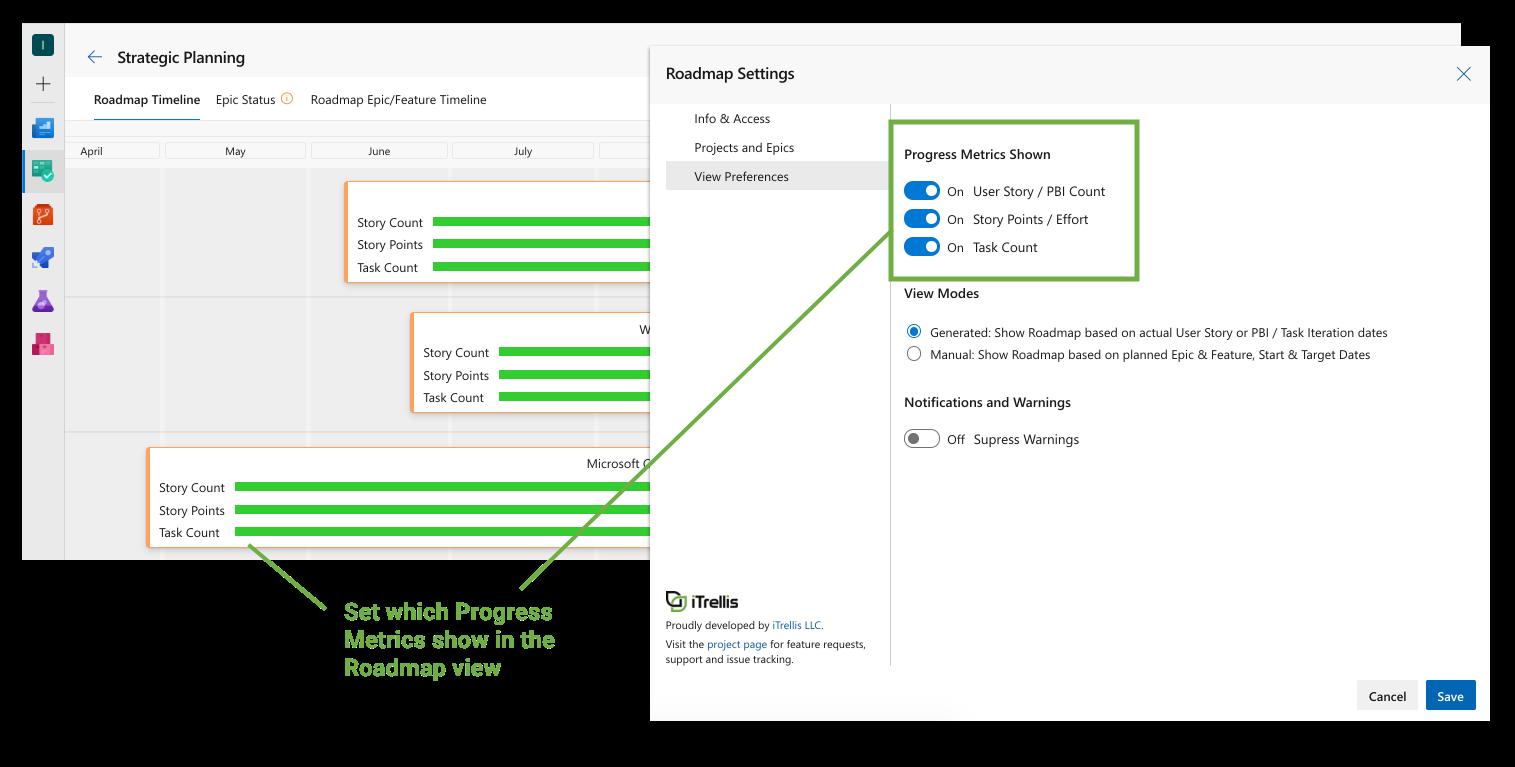 portfolio-pp extension: edit metric settings